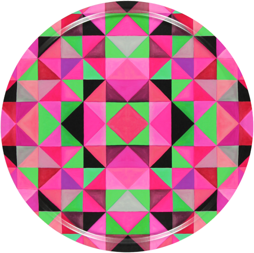 Bold Cubism Parisian Pink Tray | Mariska Meijers