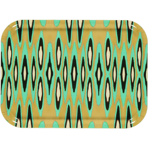 Coco Ikat turquoise tray