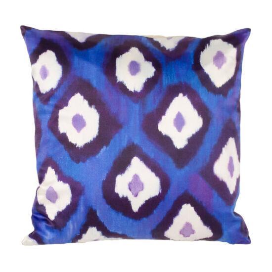 Electric Ikat silk square pillow