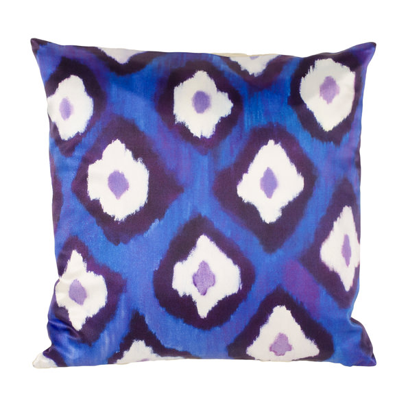 Electric Ikat silk square pillow