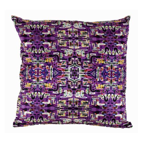 Jungle Fever Purple silk square pillow