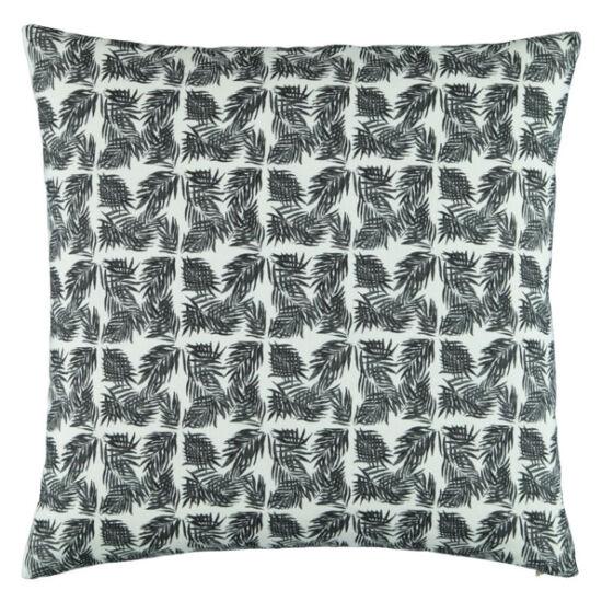 Micro Palm Beach II b&w linen pillow