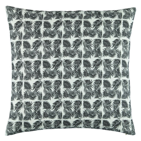 Micro Palm Beach II b&w linen pillow