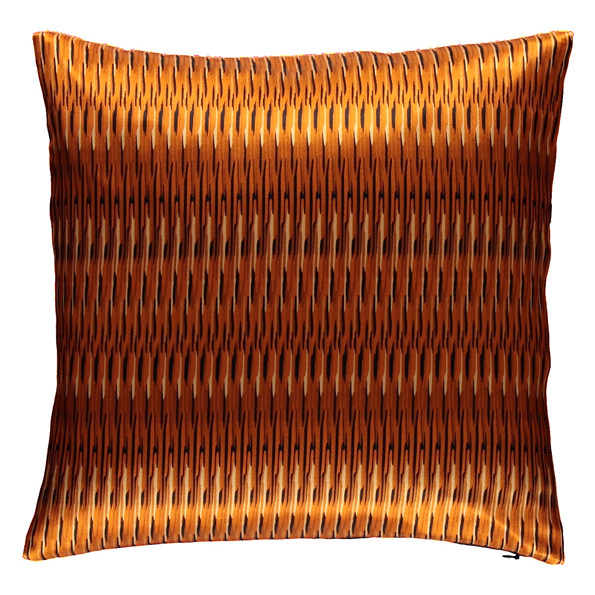 Tribal stripes silk square pillow | Mariska Meijers