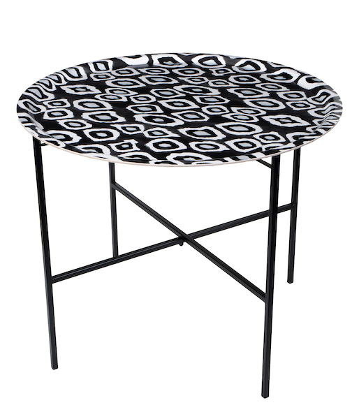 Coco Ikat Black tray table