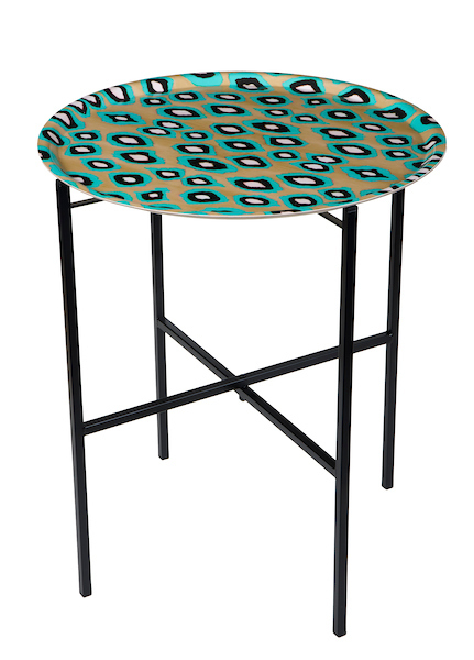 Coco Ikat Turquoise tray table