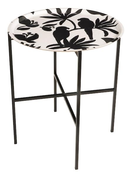 Singapore Black White Tray table