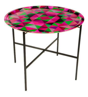 Bold Cubism Parisian Pink Tray table