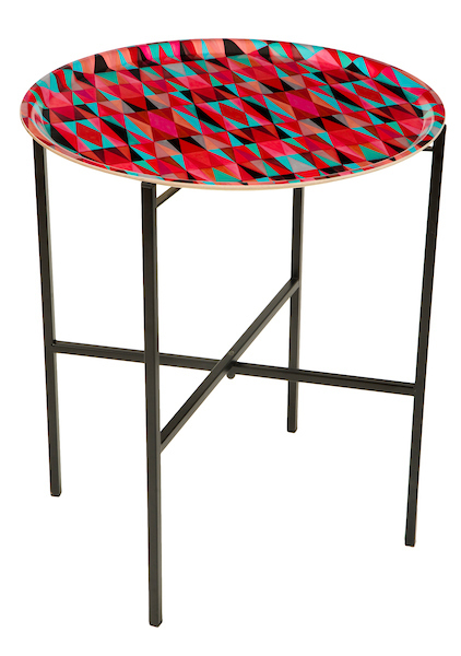 Bold Cubism long Picasso Red tray table