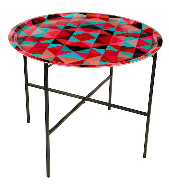 Bold Cubism Picasso Red Tray Table
