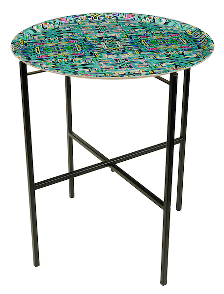 Jungle Fever Turquoise Tray table