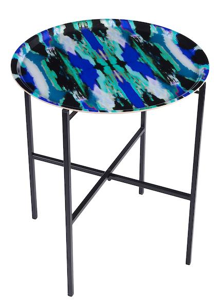 Zesty Ikat Blue tray table