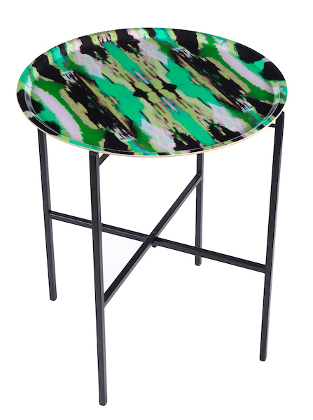 Zesty Ikat Green tray table