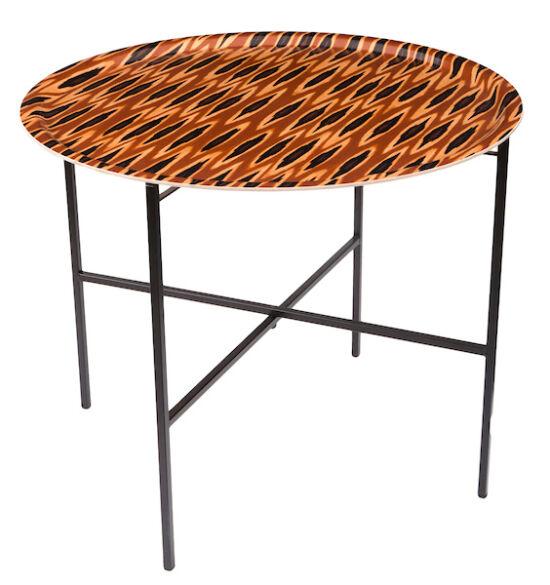 Tribal Ikat Long Ocre tray table