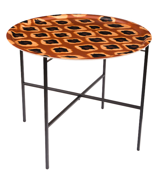 Tribal Ikat Ocre tray table