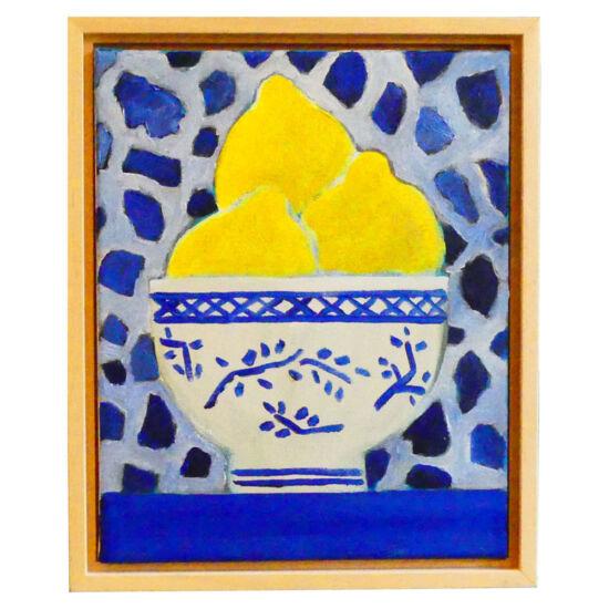 Lemons in Chinese bowl