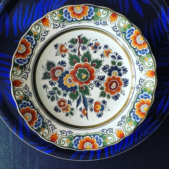 Royal Delft handpainted polychrome vintage wall