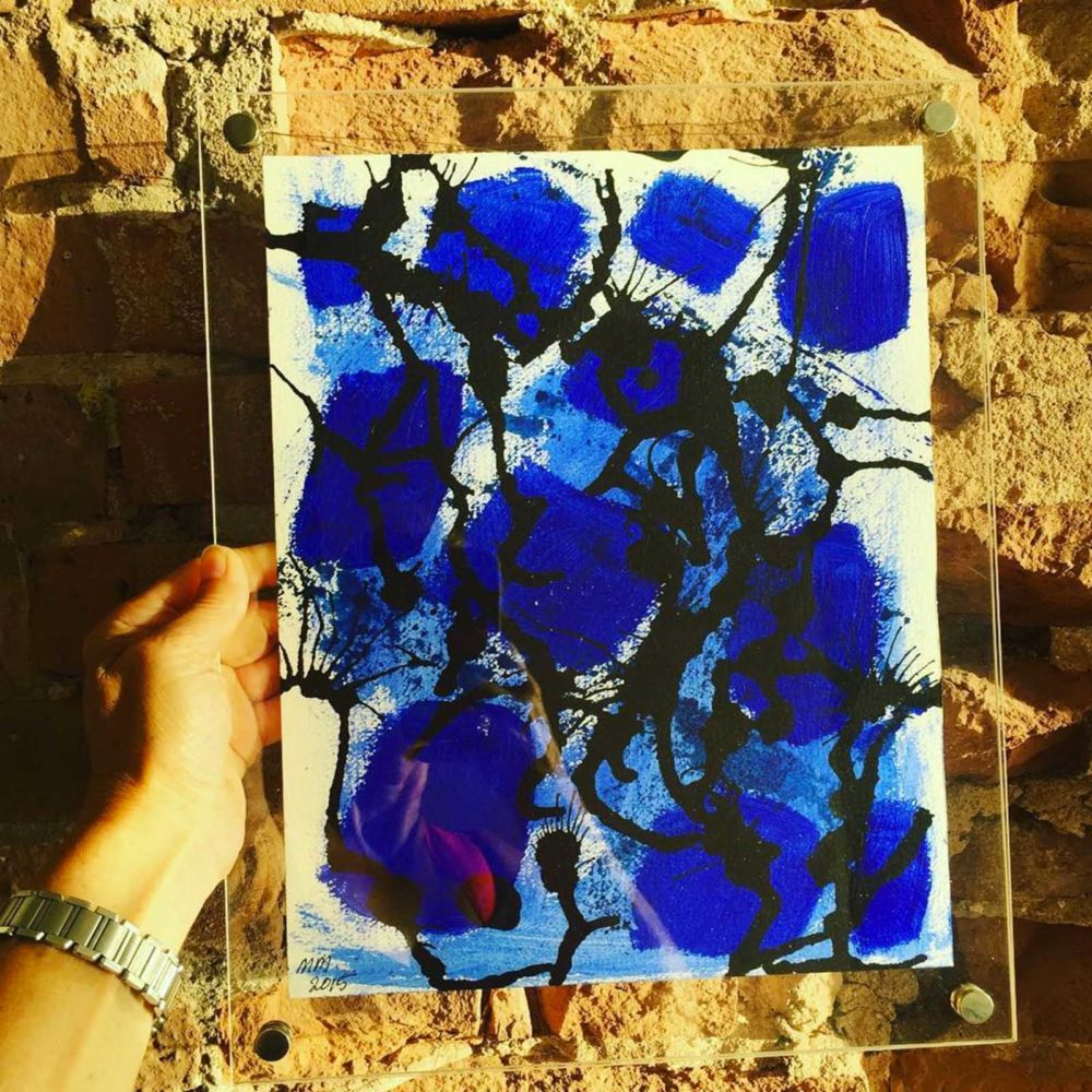 Abstract study in blue