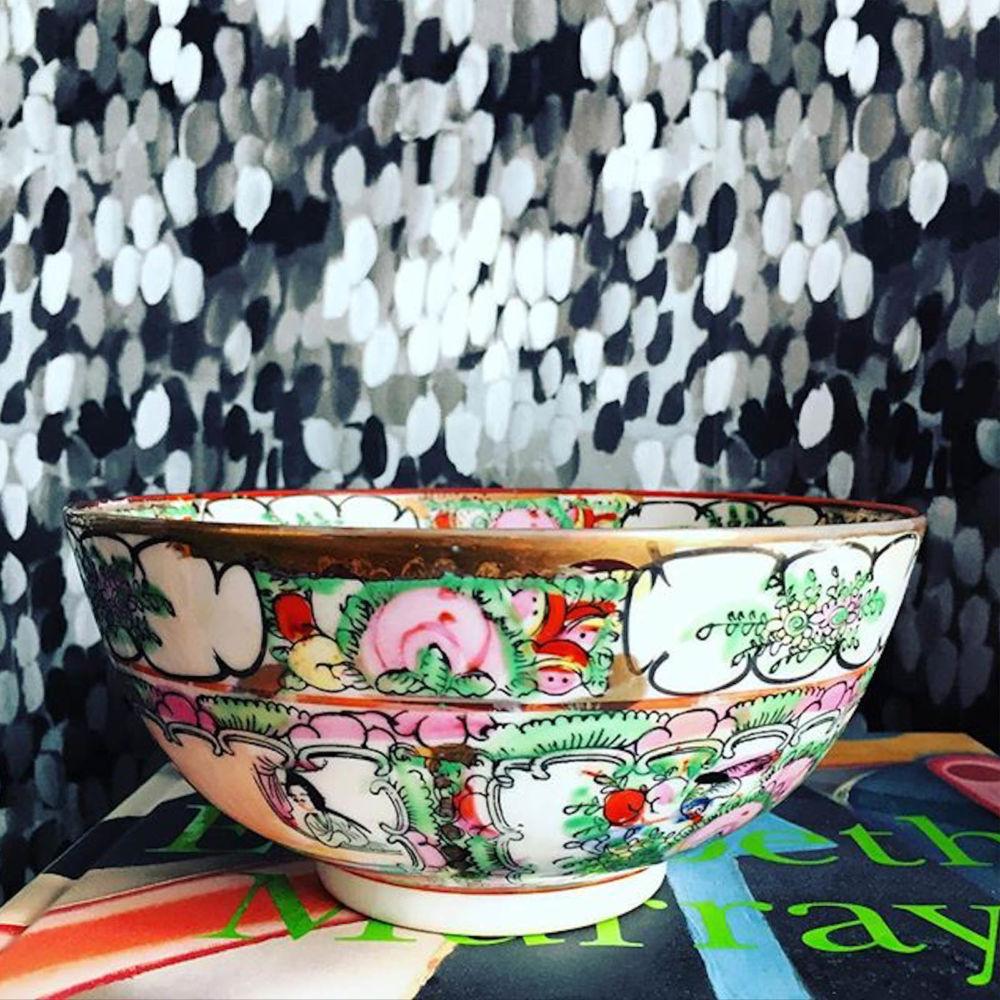 Vintage Chinoiserie bowl | Mariska Meijers Amsterdam