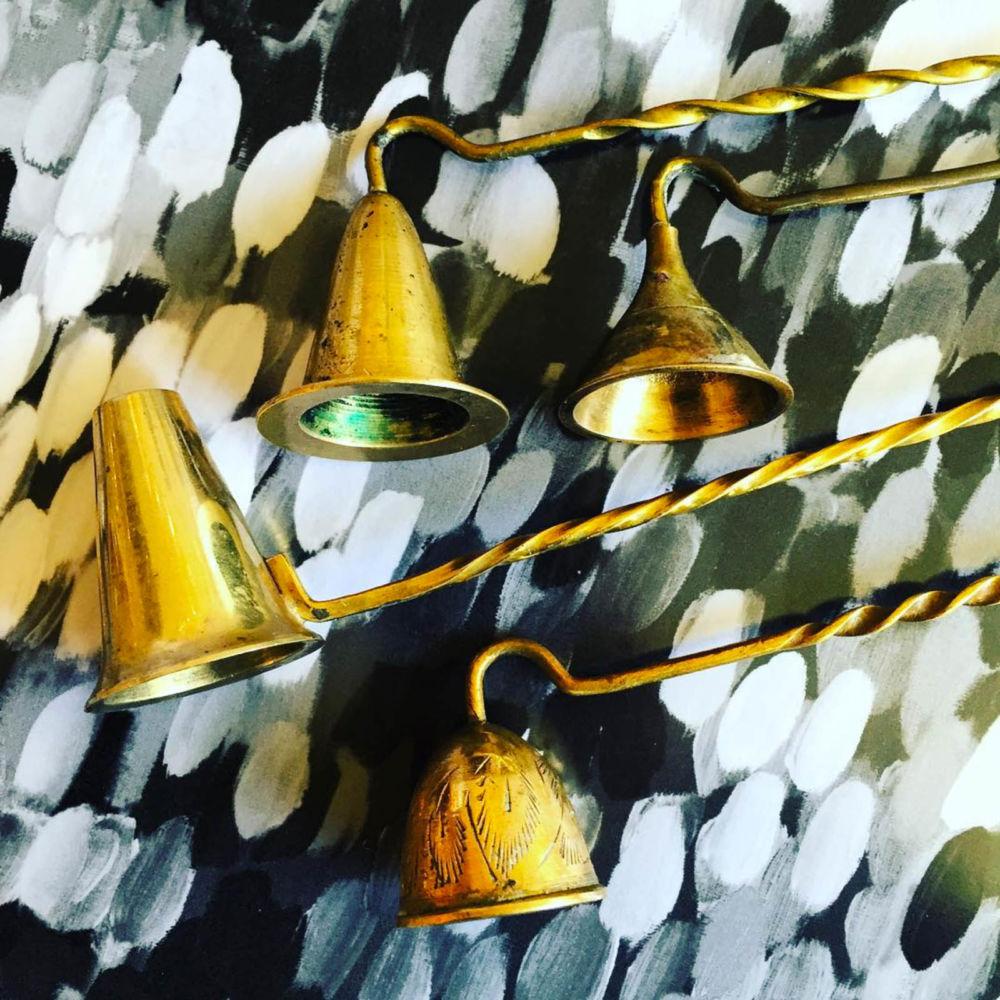 Vintage brass candle extinguishers