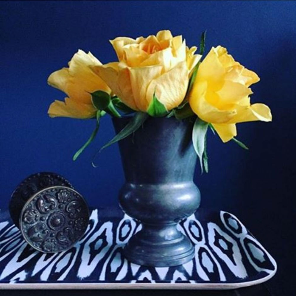 Vintage pewter vase