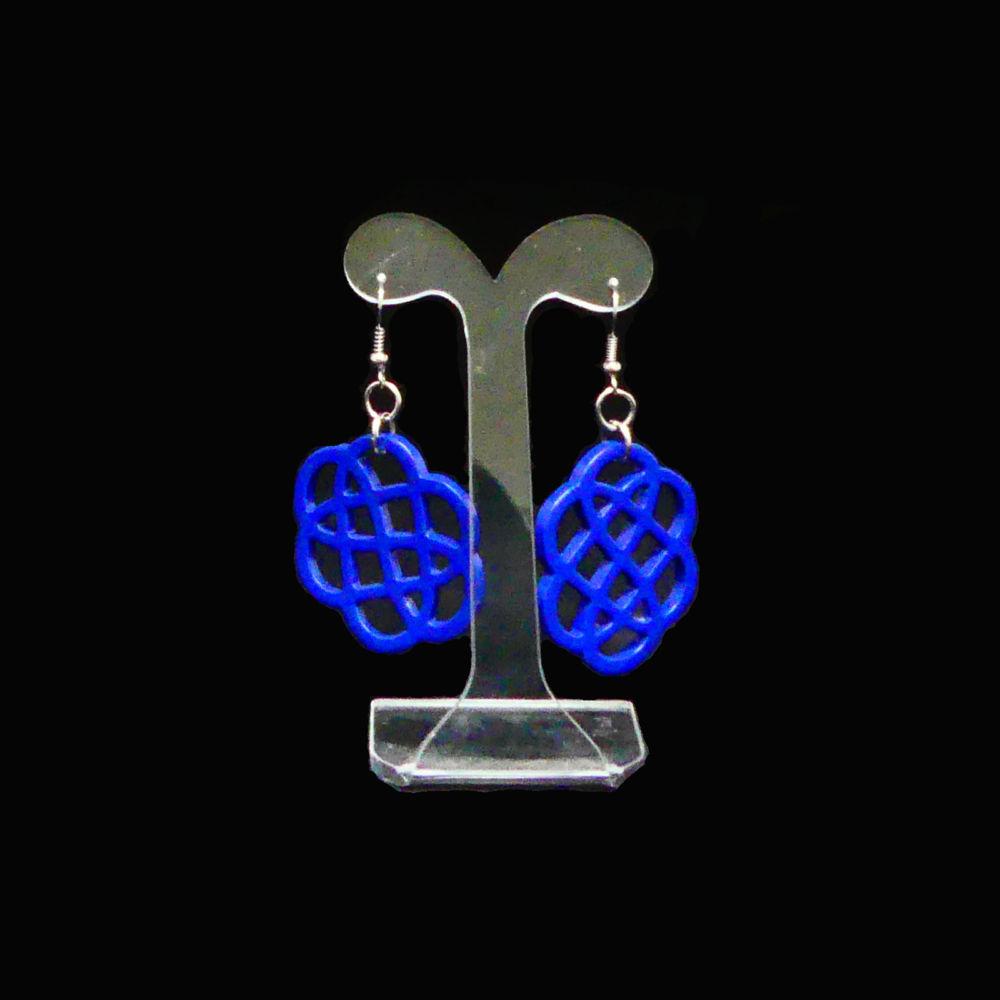 Blue horn earrings   Mariska Meijers Amsterdam