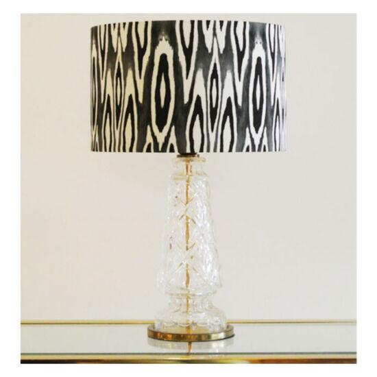 Coco ikat black long lampshade | Mariska Meijers Amsterdam