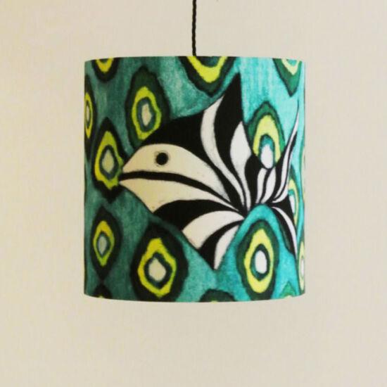Green ikat fish lampshade