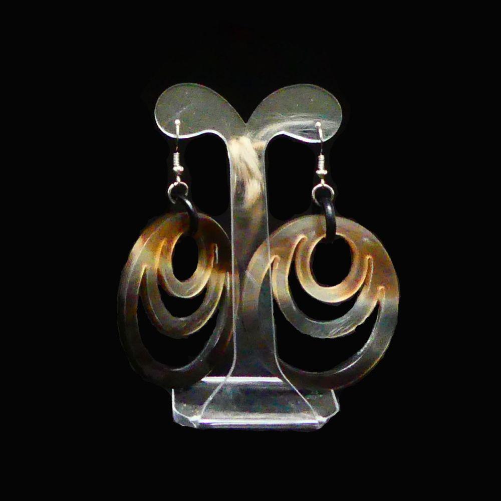 Horn earrings   Mariska Meijers Amsterdam