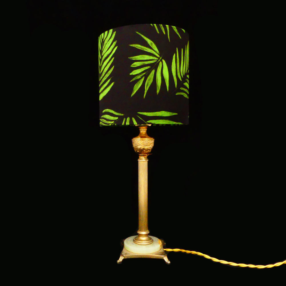 Vintage brass Lampbase | Mariska Meijers Amsterdam