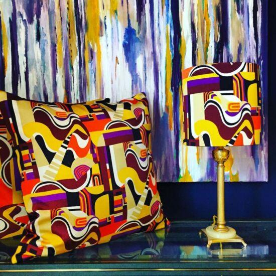 Vintage italian silk pillows & lampshade - Limited Edition - Mariska Meijers Amsterdam