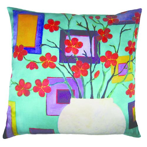 Red blossom Pillow | Mariska Meijers Amsterdam