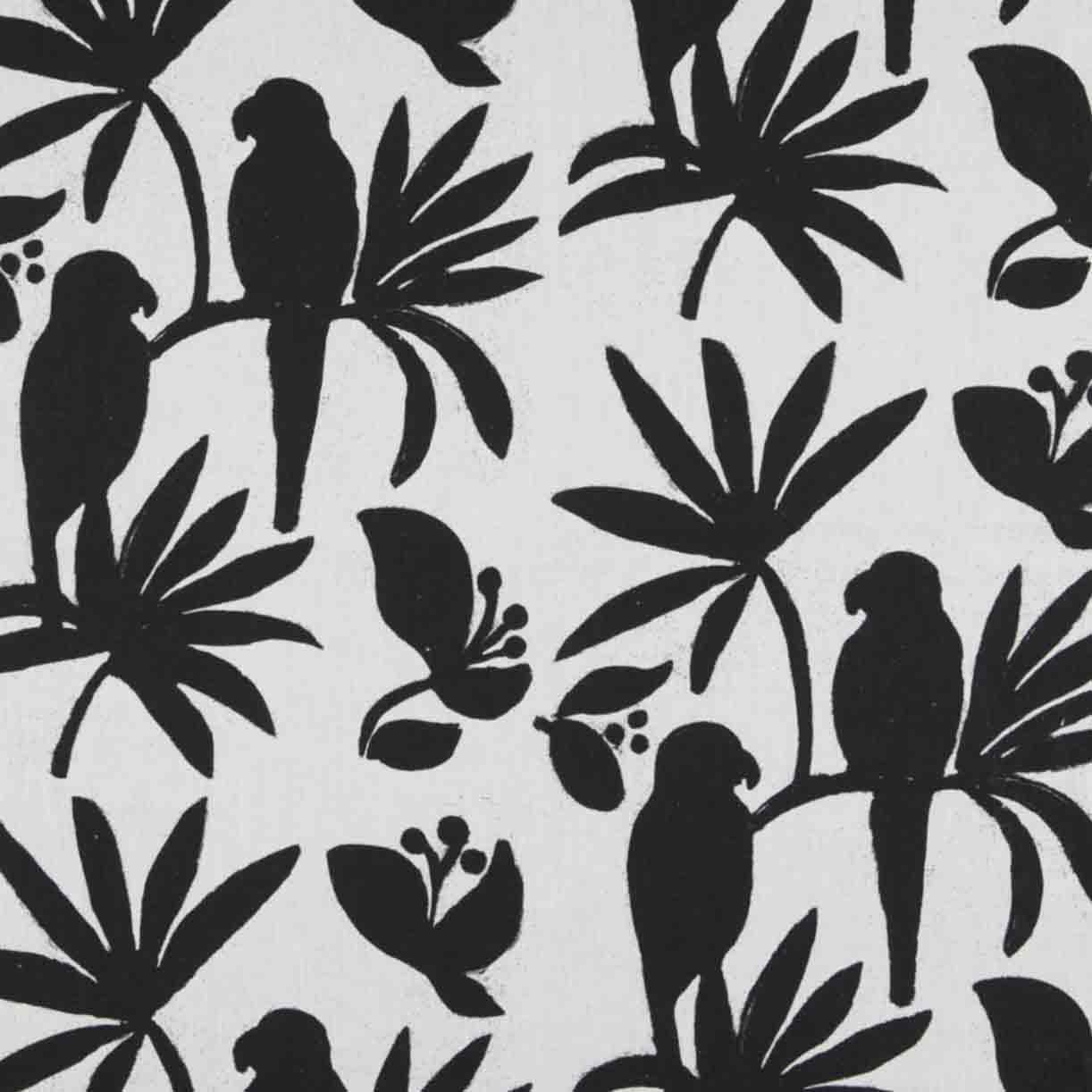 Singapore black white linen | Mariska Meijers Amsterdam