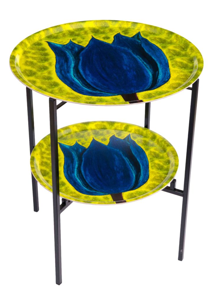 Botanica Yellow Double Tray Table