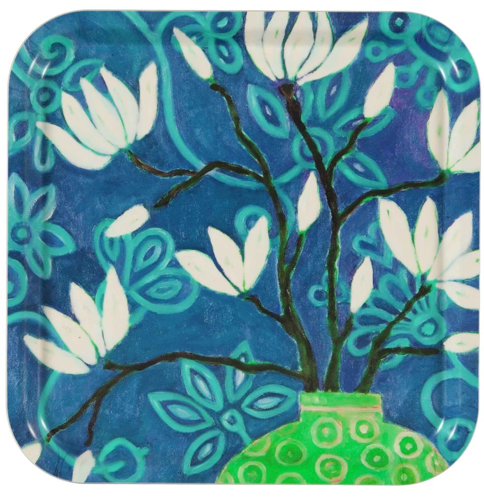 in bloom blue Pillow 32 x 32