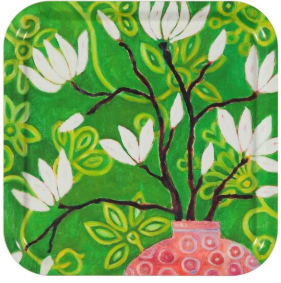 in bloom green Tray 32 x 32