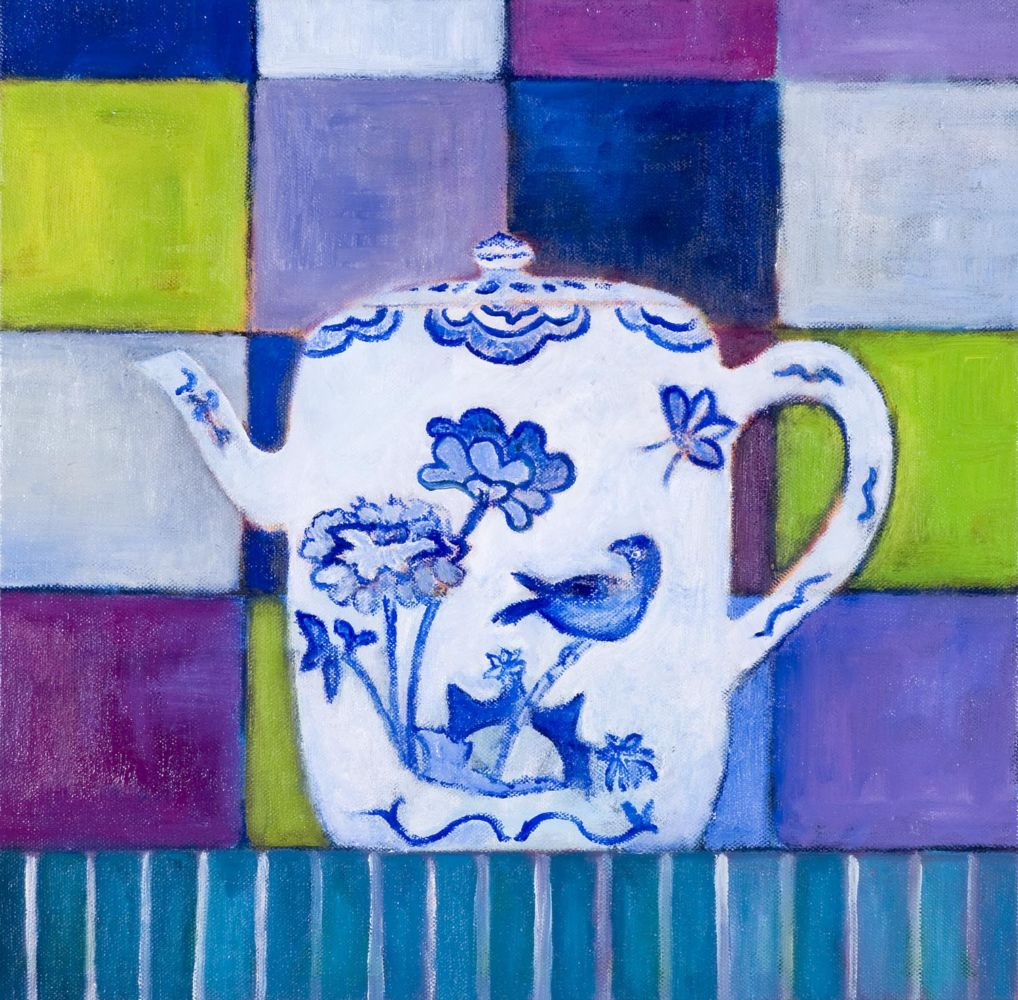 Delft Blue Teapot limited edition screen print