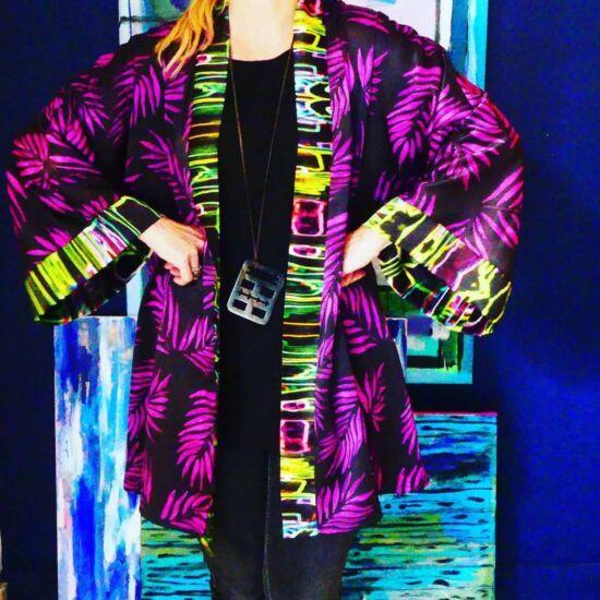 Palm Beach Pink Kimono | Mariska Meijers Amsterdam