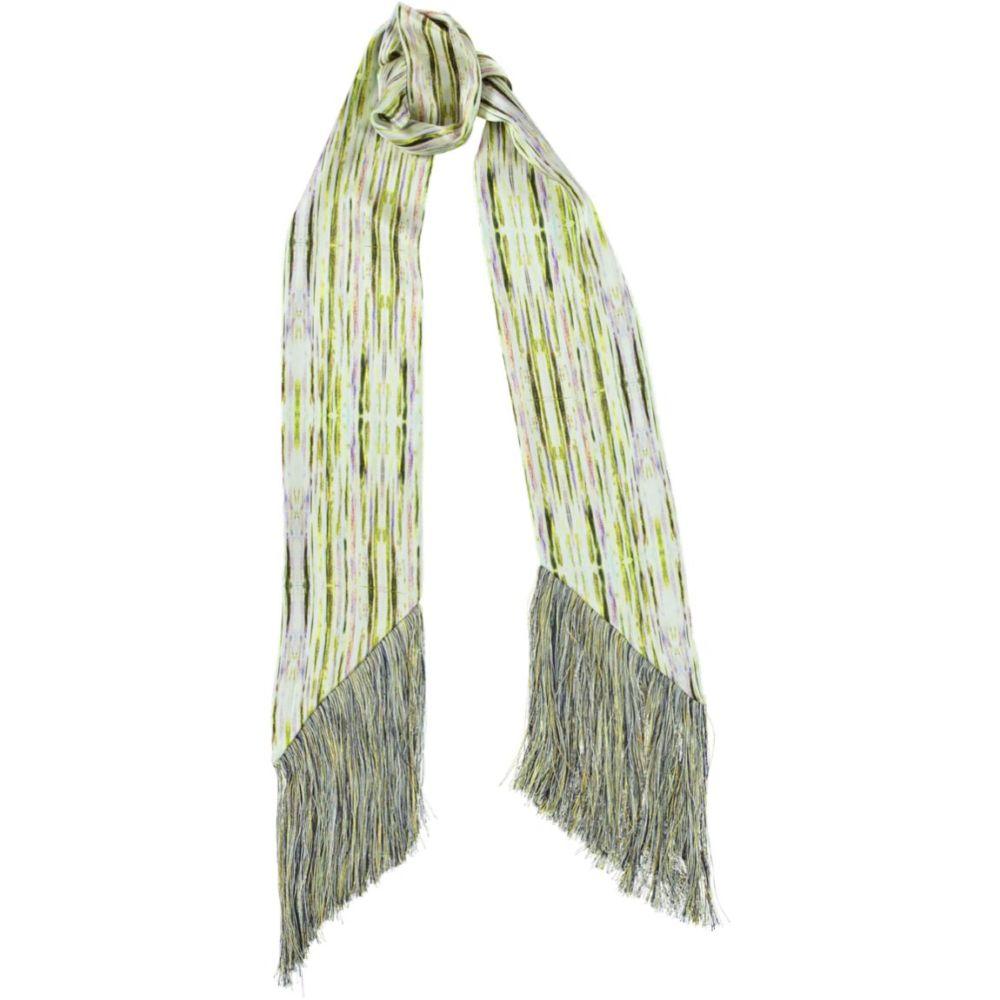 botanical stripe fringed skinny scarf | Mariska Meijers Amsterdam