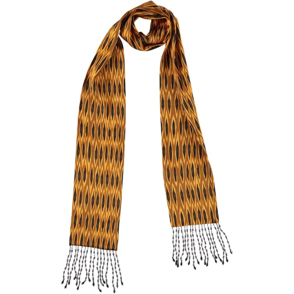 tribal ikat beaded skinny scarf | Mariska Meijers Amsterdam