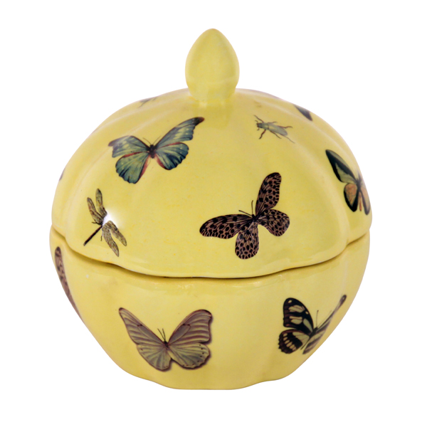 Yellow Pumpkin Shaped jar | Mariska Meijers Amsterdam