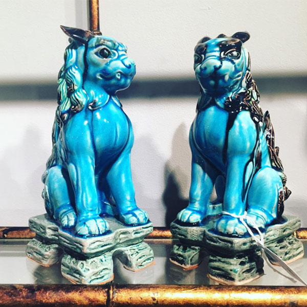 Antique Foo Dogs | Vintage | Mariska Meijers Amsterdam