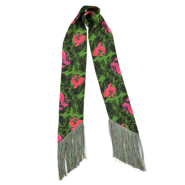 Palm Beach Tropical Green Skinny Scarf | Mariska Meijers Amsterdam