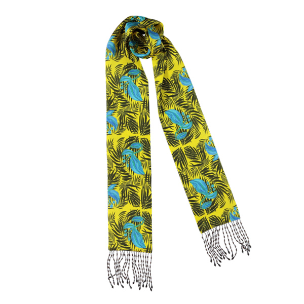 Palm Beach Tropical Yellow Skinny Scarf | Mariska Meijers Amsterdam